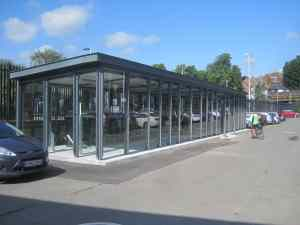 Weather protected storage at  Lewes station