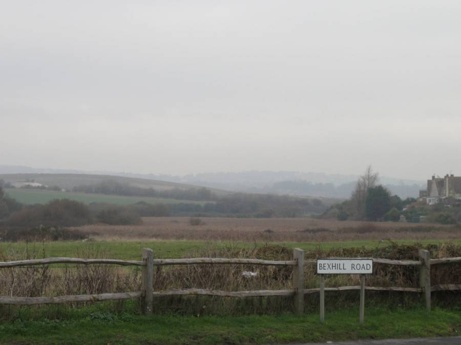 Bexhill Road at Glyne Gap - a useful access point for the Combe Valley Countryside Park