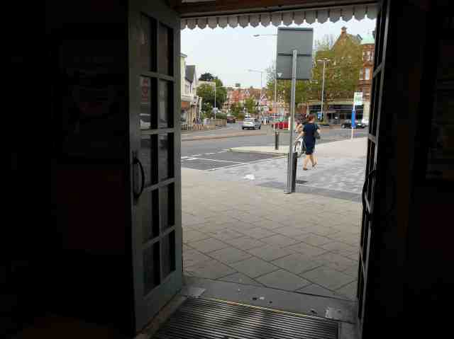 At the Upperton Road (town) end of the station, those exiting the station towards the library no longer have to pass between the bumpers of waiting taxis and crossing the road is a little less intimidating...
