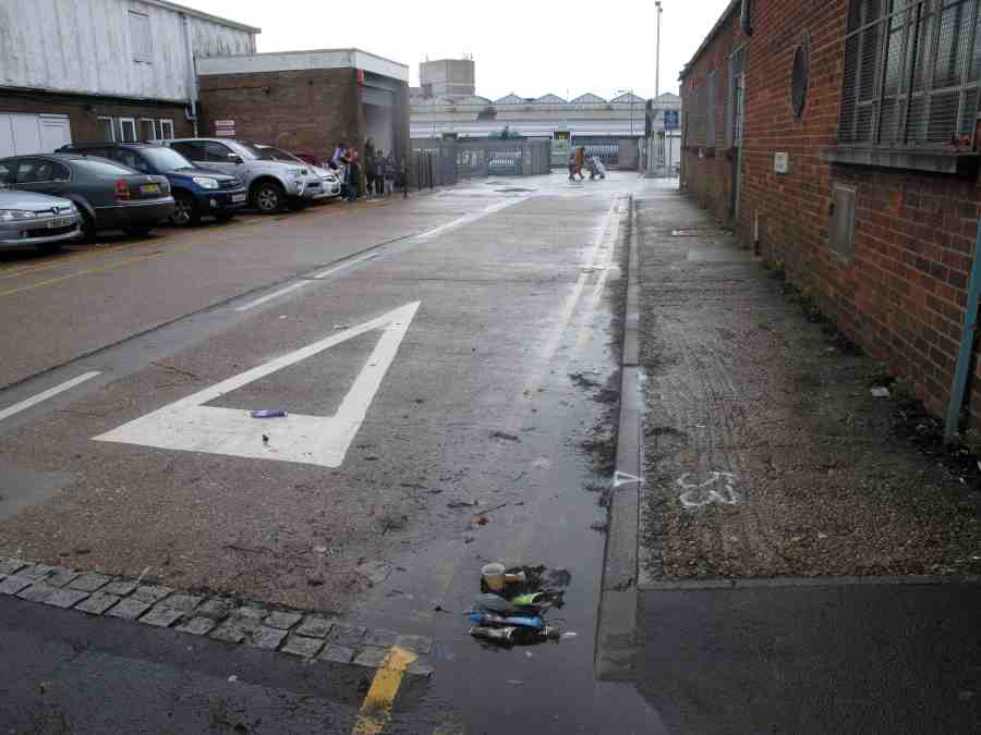 Unattractive, uneven, too narrow - hazardous for the elderly and impossible for wheelchairs. This footway needs a major upgrade