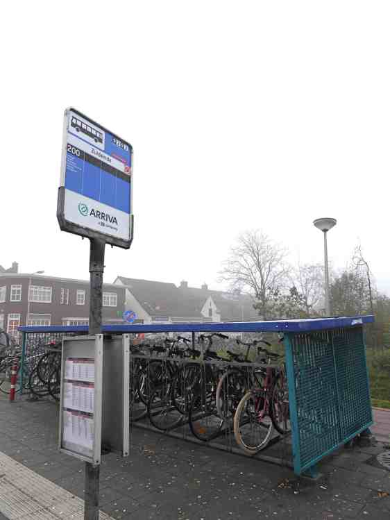 A permanent, popular and standard village feature at the bus stop - Netherlands.